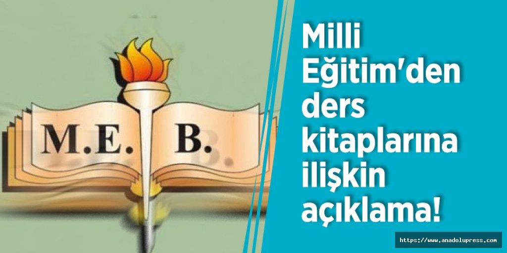 MEB'den ders kitaplarına ilişkin açıklama!