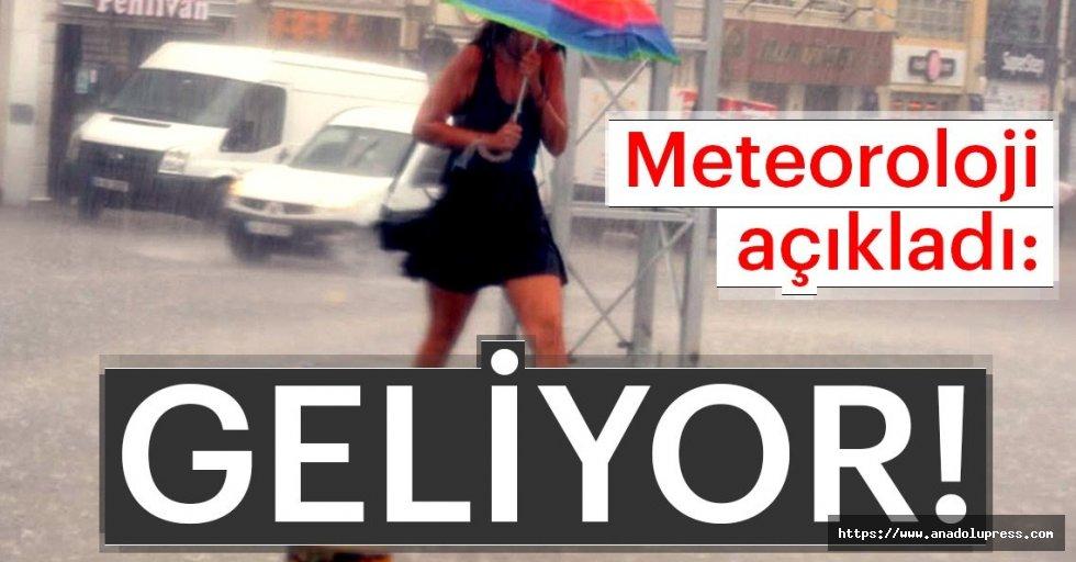 Meteoroloji sağanak yağışlar konusunda uyardı...