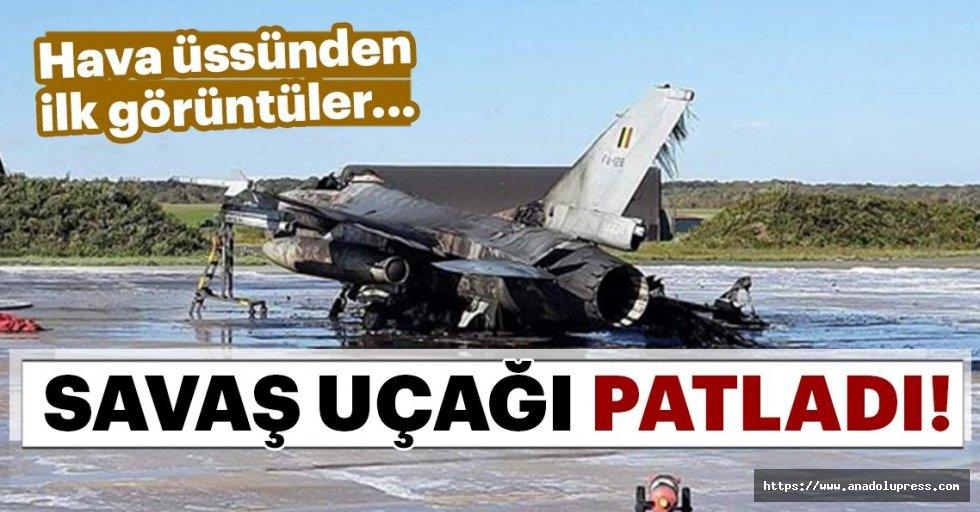 Belçika'da F-16 uçağı patladı