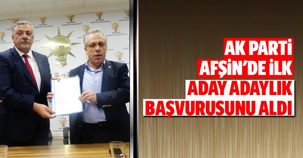 Ak Parti Afşin'de ilk aday adaylık başvurusunu aldı