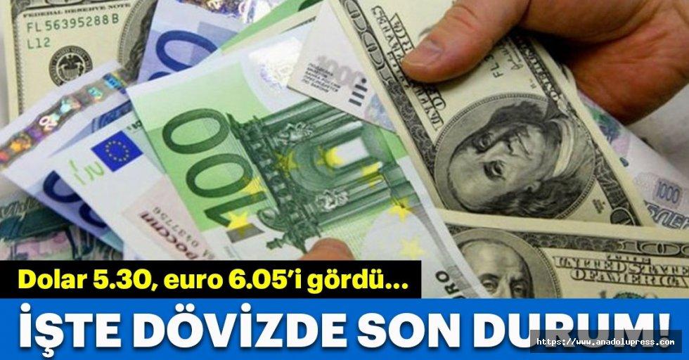 Dolar5.30 lirayı gördü,euro6.05 liranın altında!
