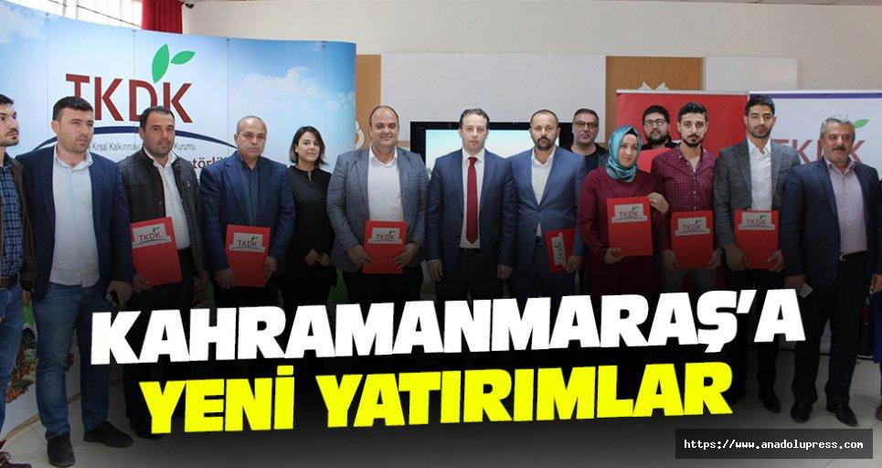 Kahramanmaraş'a Yeni Yatırımlar