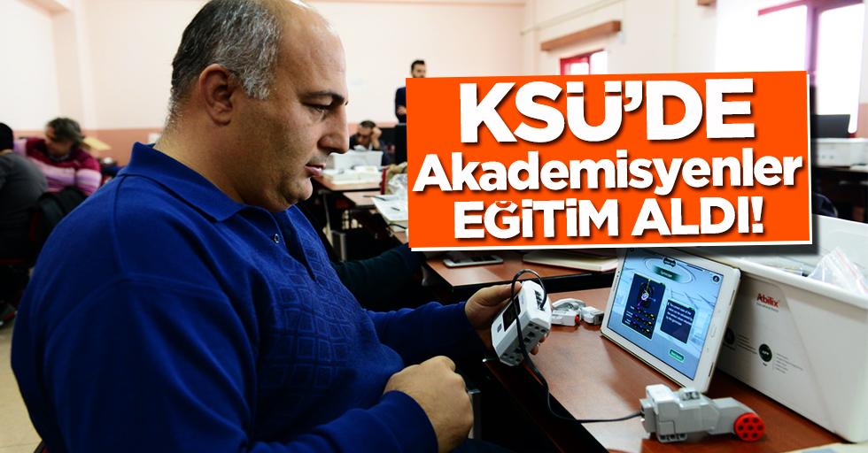 KSÜ'de Akademisyenlere Yönelik 'Robotik Kodlama Eğitici Eğitimi' Başladı