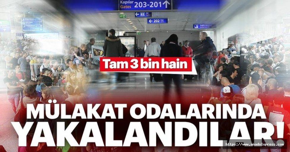 Mülakat Odalarında Yakalanan Terörist Sayısı 3 Bini Geçti