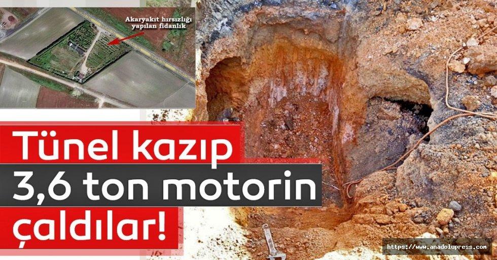 NATOBoru Hattı'na tünel kazıp 3,6 ton motorin çaldılar
