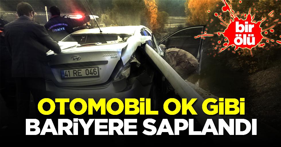 Otomobil bariyere saplandı; 1 ölü!