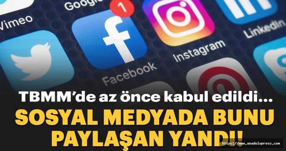 Sosyal medyada bunu paylaşanlara ceza geliyor!