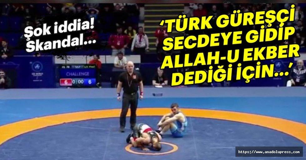Türk sporcu 'secdeye gittiği' için mi yenik sayıldı?