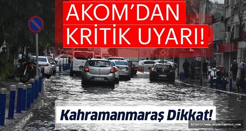 Büyükşehir AKOM'dan aşırı yağış uyarısı!