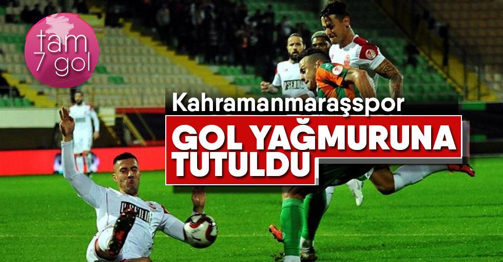 Kahramanmaraşspor gol yağmuruna tutuldu!