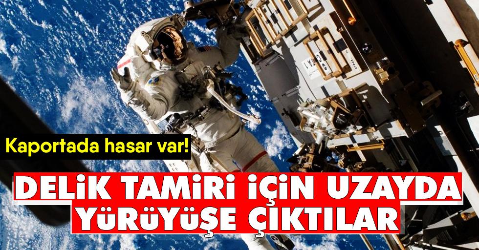 Rus kozmonotlaruzayaracındaki deliği inceleyecek
