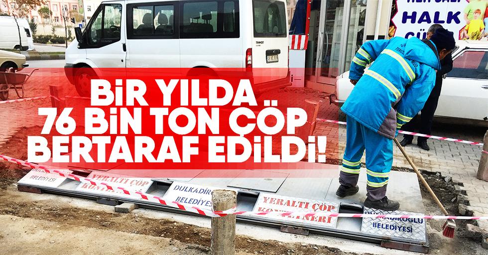 Dulkadiroğlu 76 Bin Ton Çöpü Bertaraf Etti