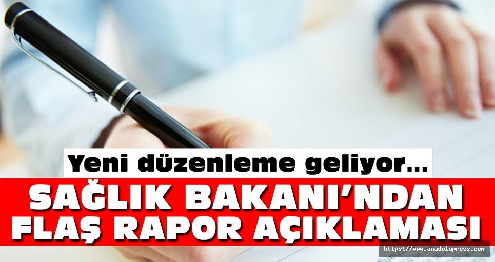 Sağlık Bakanı'ndan Flaş Rapor Açıklaması