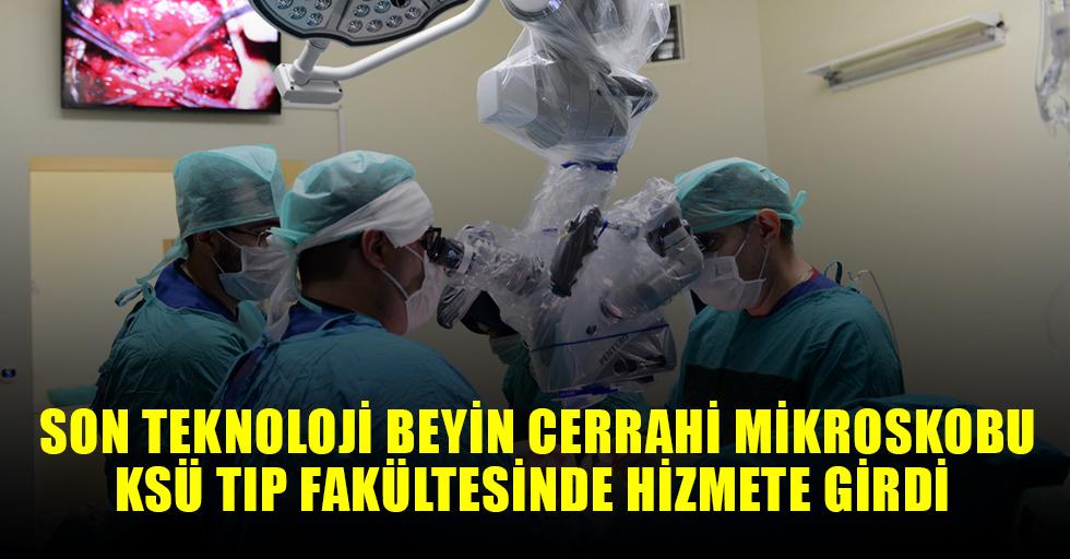 Son Teknoloji Beyin Cerrahi Mikroskobu KSÜ'de