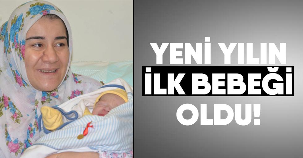 Yeni yılın ilk bebeği oldu!