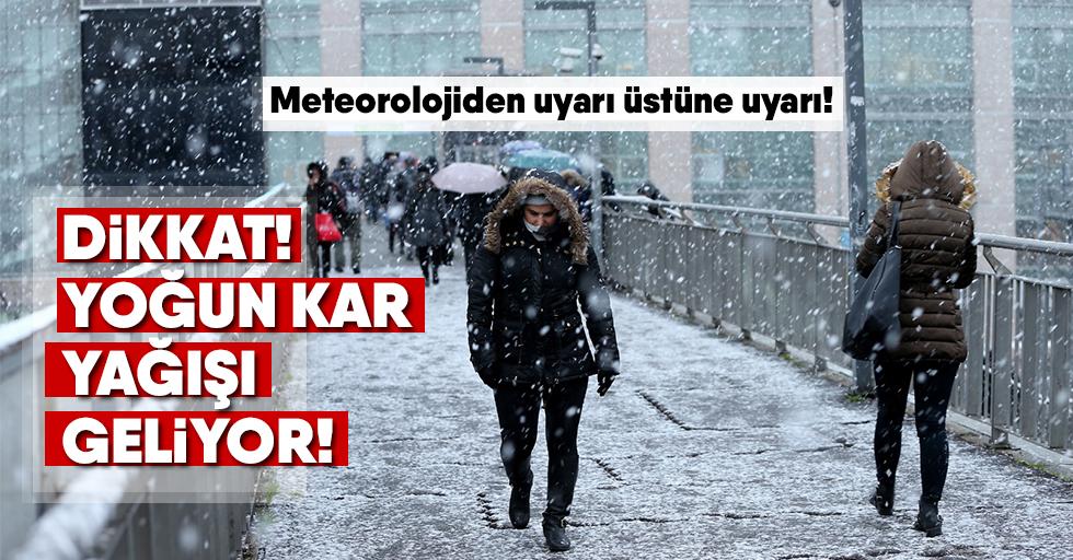 Yoğun kar yağışı geliyor!