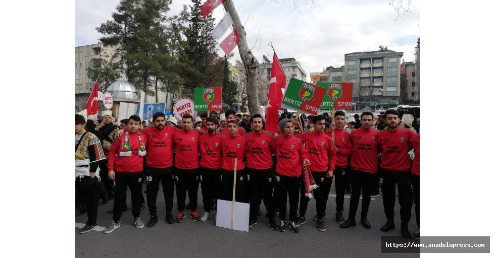 Bertiz Spor Kulübü 12 Şubat Kurtuluş Günü Etkinliklerine tam kadro katıldı