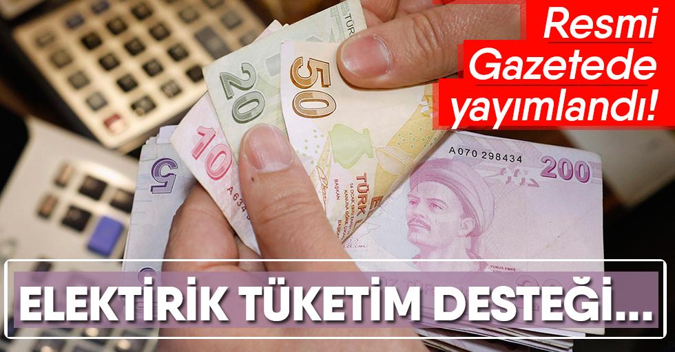 İhtiyaç sahiplerine elektrik tüketim desteği kararıResmi Gazete'de