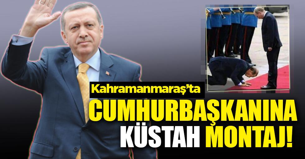 Başkan Erdoğan'a küstah montaj!