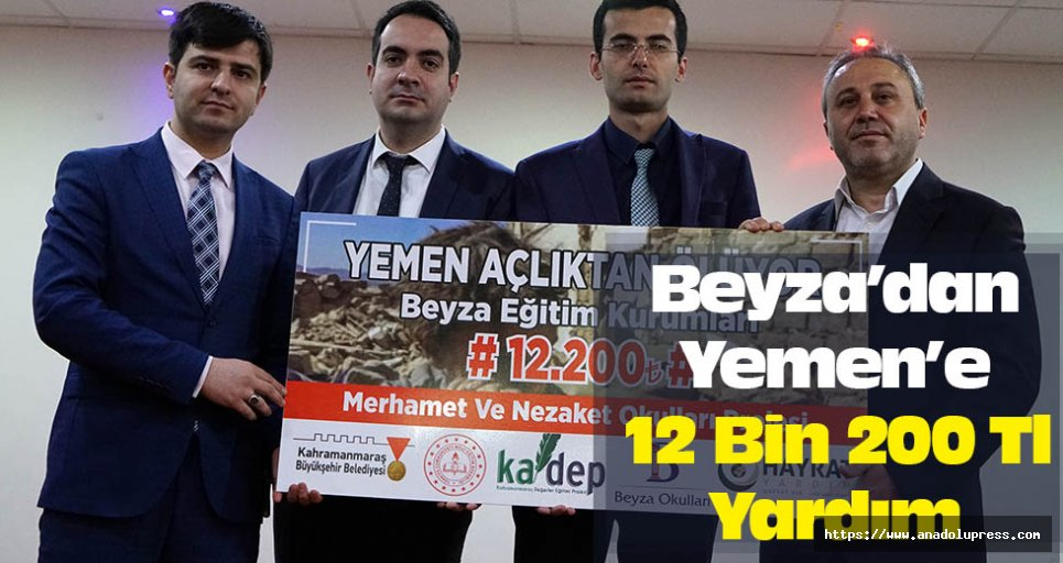 Beyza'dan Yemen'e 12 Bin 200 Tl Yardım