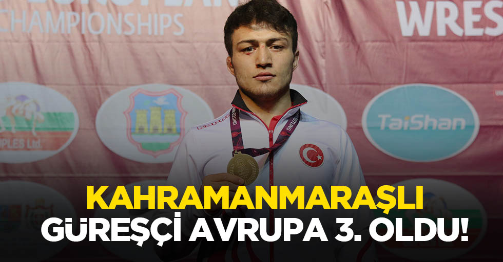 Kahramanmaraşlı güreşçi Avrupa 3. Oldu!