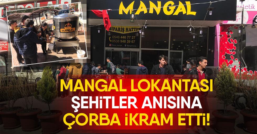 Mangal Lokantası şehitler anısına çorba ikram etti!