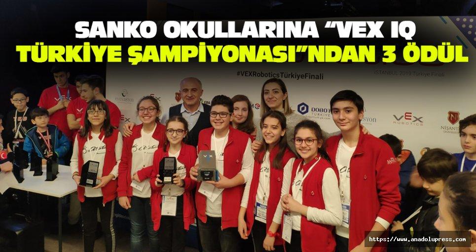 """SANKO Okullarına """"VEX IQ Türkiye Şampiyonası""""ndan 3 Ödül"""