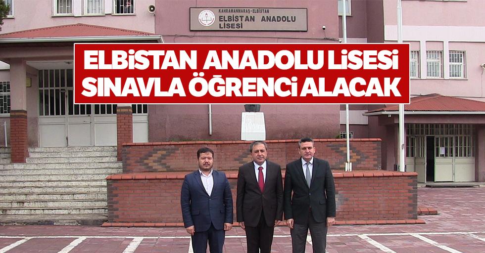 Elbistan Anadolu Lisesi Sınavla Öğrenci Alacak