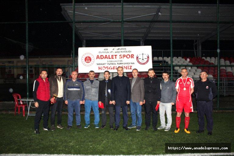 Kahramanmaraş adliyesi 3. Geleneksel futbol turnuvası sonuçlandı