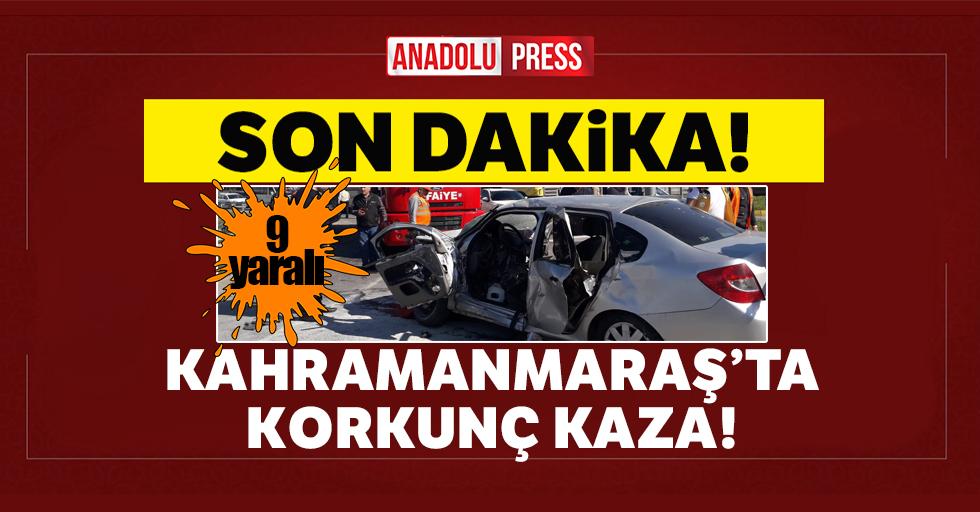 Kahramanmaraş'ta ambulans ile otomobil çarpıştı: 9 yaralı