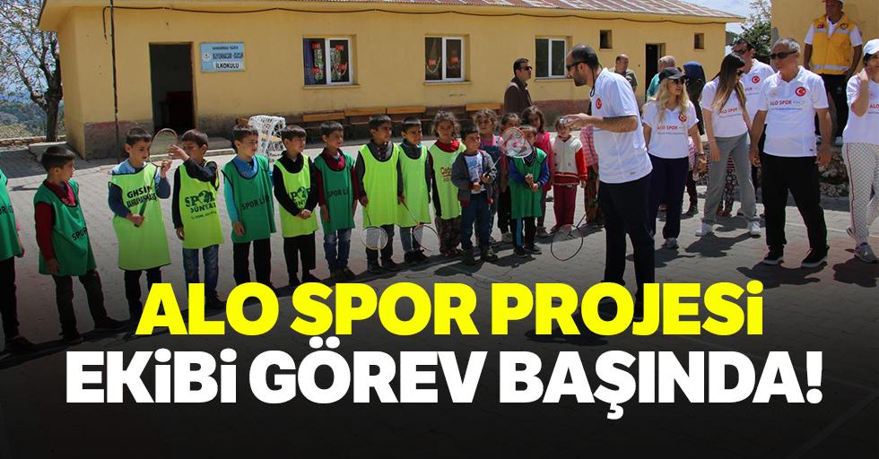 Alo spor projesi görev başında!