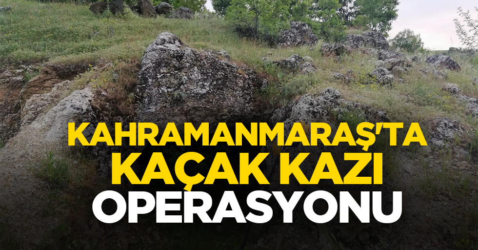 Kahramanmaraş'ta kaçak kazı operasyonu