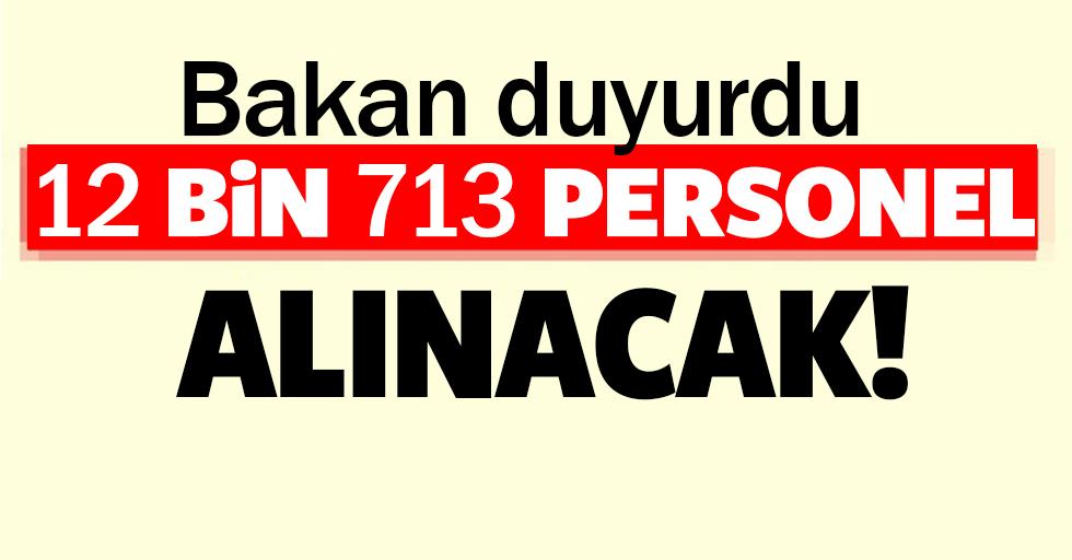 Adalet Bakanlığı bu yıl 12 bin 713 personel alacak
