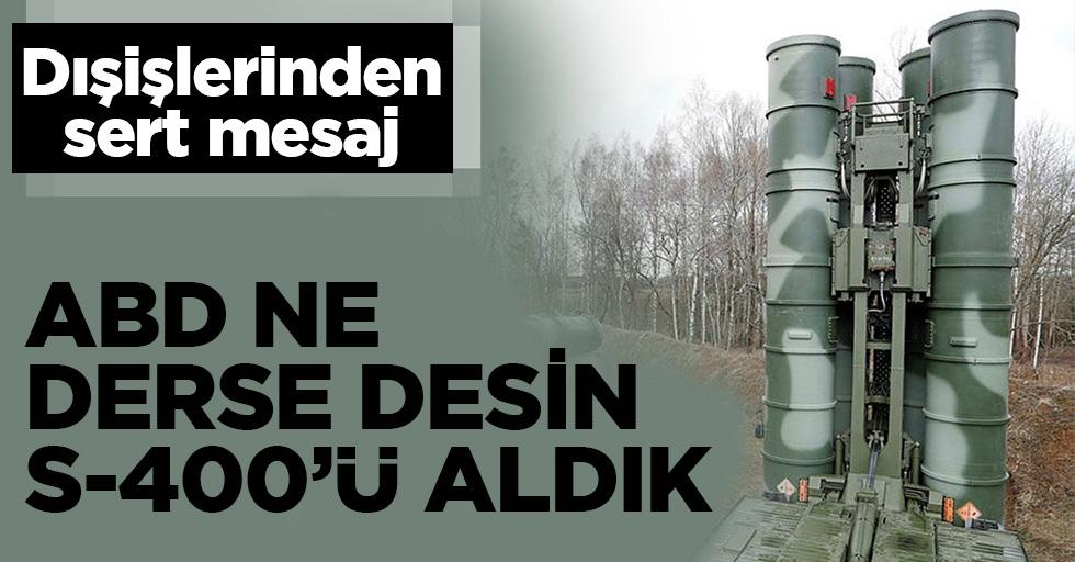 """Bakan Çavuşoğlu: """"ABD'nin attığı adımlar ortaklığa uygun değil"""""""