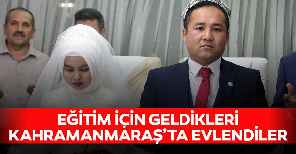 Eğitim İçin Geldikleri Kahramanmaraş'ta Evlendiler