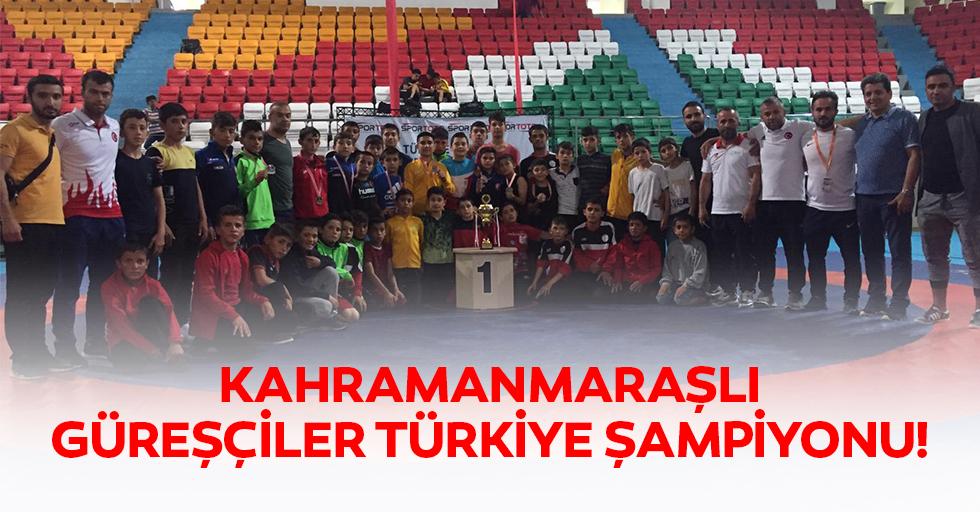 Kahramanmaraşlı güreşçiler Türkiye şampiyonu!