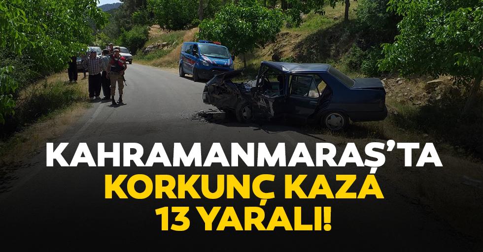 Kahramanmaraş'ta korkunç kaza; 13 yaralı!