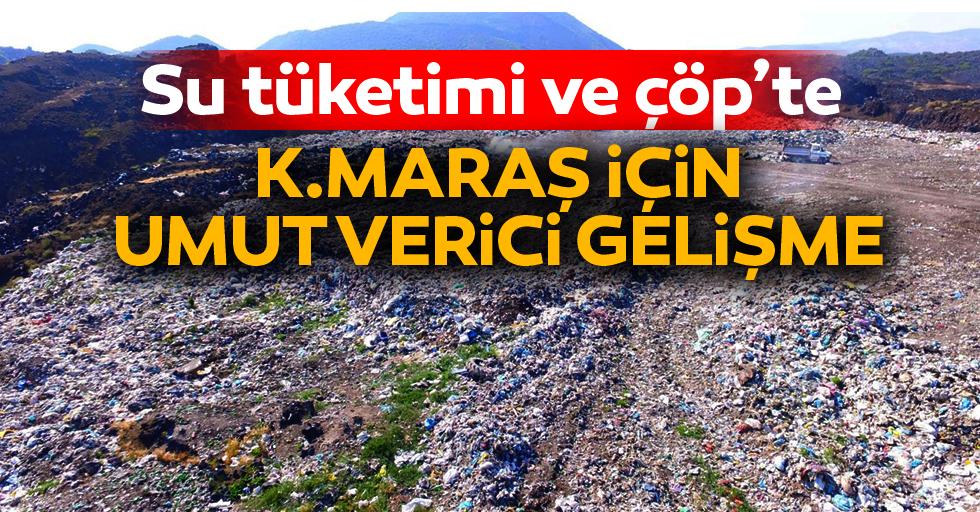 Su tüketimi ve çöp'te Kahramanmaraş için umut verici gelişme!