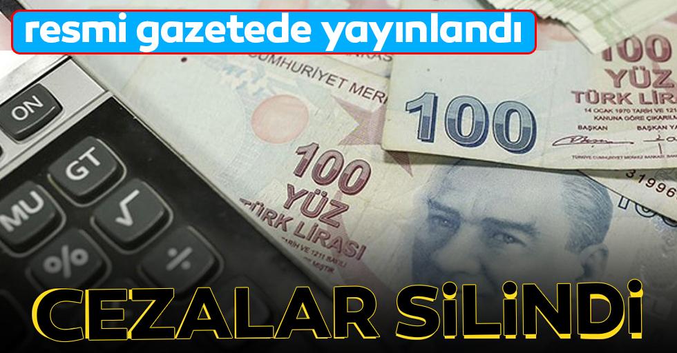 Torba YasaResmi Gazete'de yayımladı: Cezalar silindi