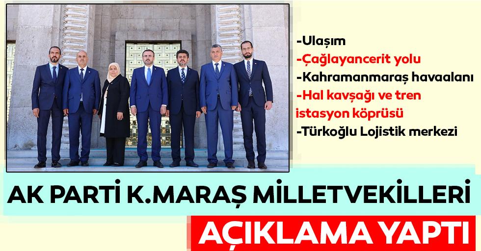 AK Parti Kahramanmaraş Milletvekillerinden açıklama!