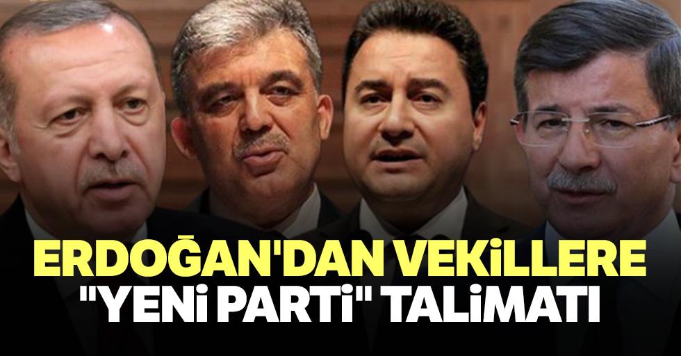 """Erdoğan'dan Vekillere """"Yeni Parti"""" Talimatı"""