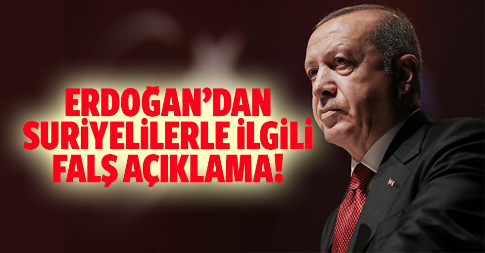 Erdoğan: 'Suriyelileri Ülkelerine Dönmeleri için teşvik edeceğiz'