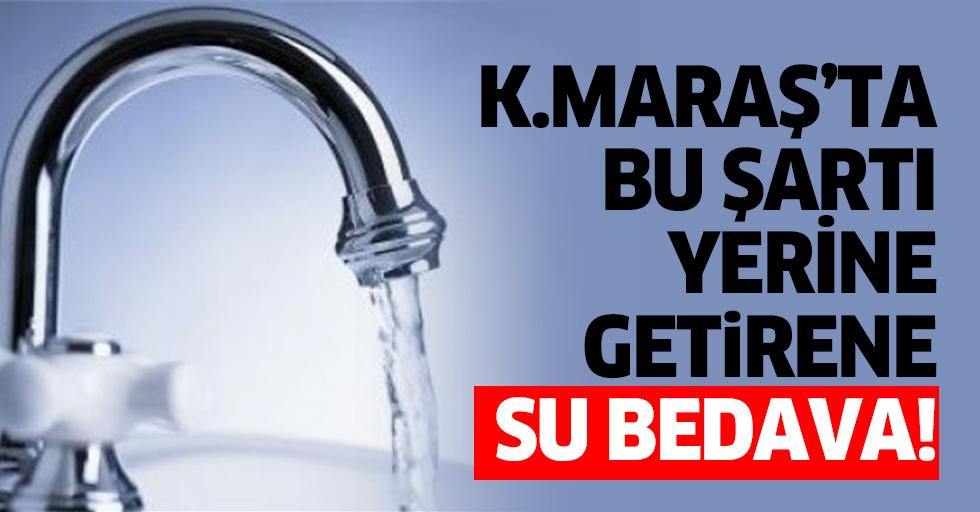 Kahramanmaraş'ta bu şartı yerine getirene su bedava!