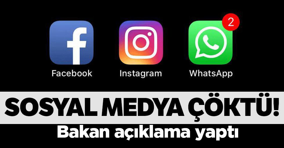 Sosyal medya çöktü!