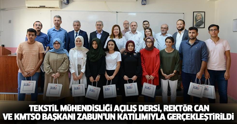 Tekstil Mühendisliği Açılış Dersi, Rektör Can Ve Kmtso Başkanı Zabun'un Katılımıyla Gerçekleştirildi