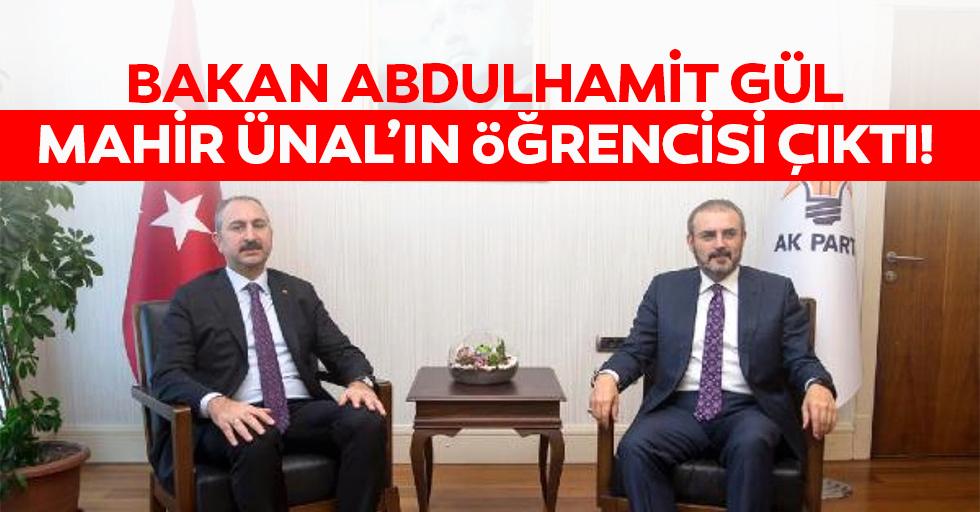 Bakan Abdulhamit Gül, Mahir Ünal'ın öğrencisi çıktı!