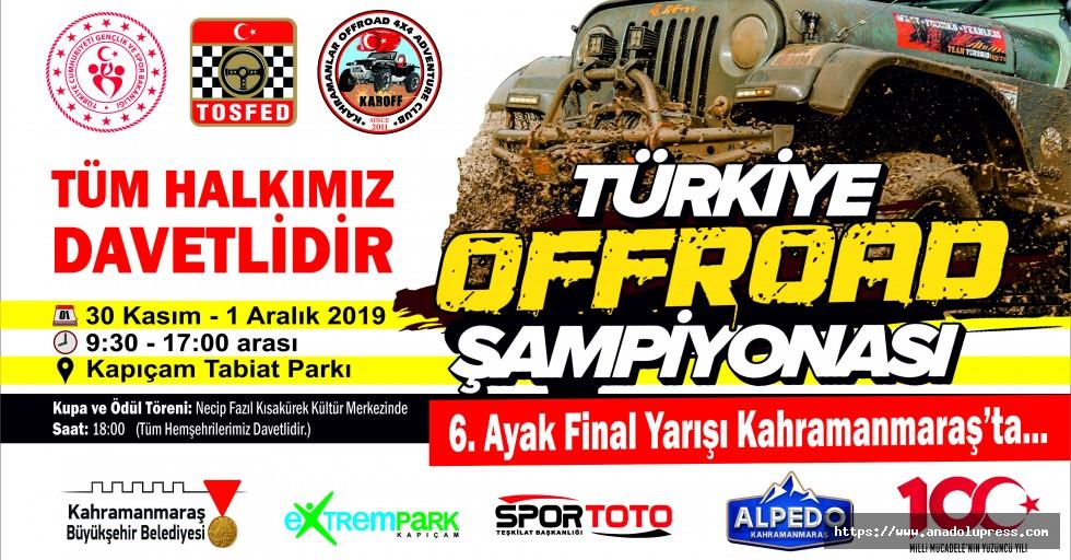 Türkiye Offroad Şampiyonası Kahramanmaraş'ta