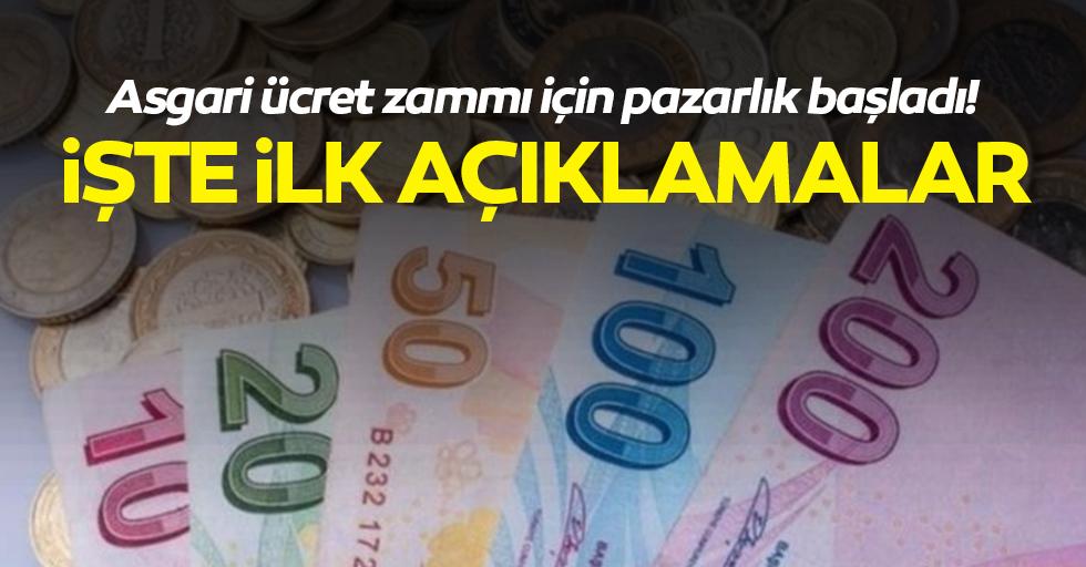 Asgari ücret zammı için pazarlık başladı!