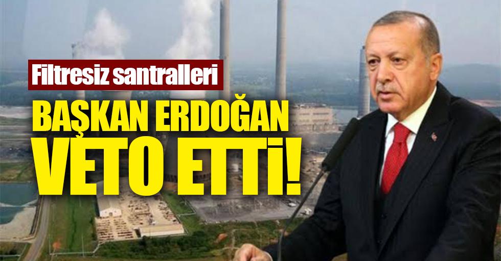Filtresiz santralleri başkan Erdoğan veto etti
