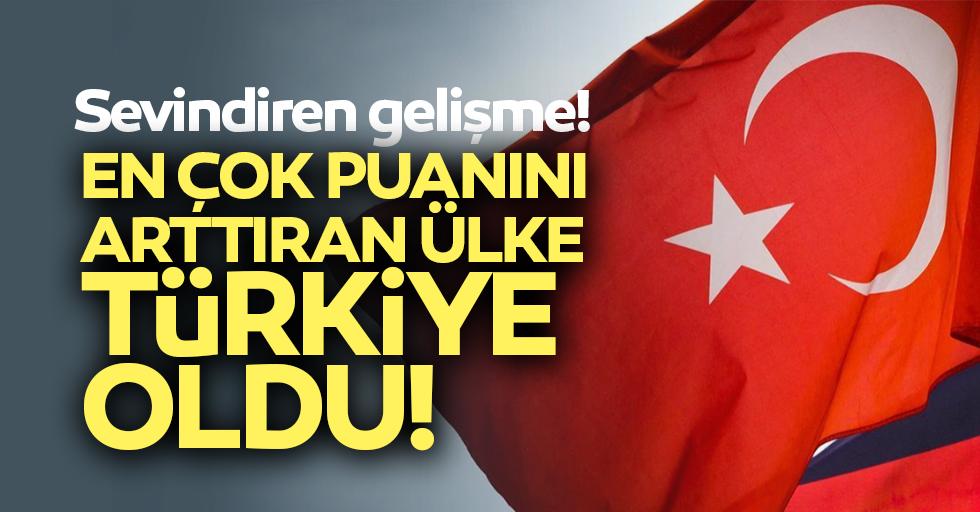 Puanını en çok arttıran ülke Türkiye oldu